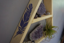 Load image into Gallery viewer, Large Feather and Arrow Crystal Shelf