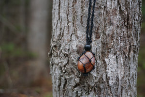 Intentional Healing Carnelian Macrame Necklace