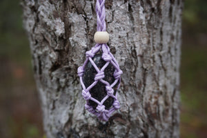Intentional Healing Rhodonite Macrame Necklace