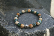 Load image into Gallery viewer, Intentional Healing Picture Jasper and Green Moss Agate Gemstone Bracelet