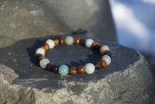 Load image into Gallery viewer, Intentional Healing Amazonite and Tiger's Eye Gemstone Bracelet