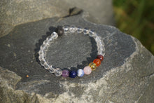Load image into Gallery viewer, Intentional Healing Chakra Lava Stone Gemstone Bracelet