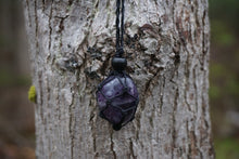 Load image into Gallery viewer, Intentional Healing Amethyst Macrame Necklace