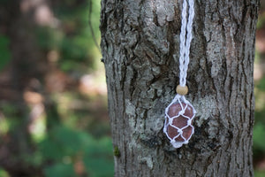 Intentional Healing Lepidolite Macrame Necklace