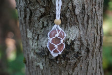 Load image into Gallery viewer, Intentional Healing Lepidolite Macrame Necklace