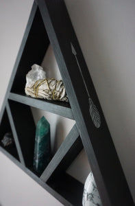 Large Feather and Arrow Triangle Shelf