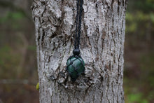 Load image into Gallery viewer, Intentional Healing Green Moss Agate Macrame Necklace