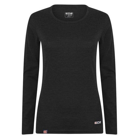 EDZ Women's Merino Long Sleeve Crew Neck Baselayer