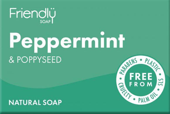 Friendly Peppermint and Poppyseed Soap Bar