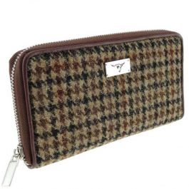 Glen Appin Harris Tweed Long Zip Purse Staffa