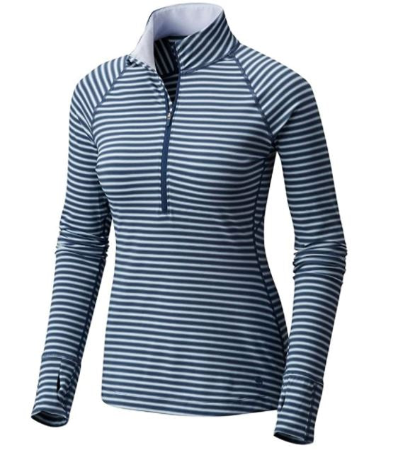 Mountain Hardwear Women's Butterlicious Stripe LS HZ