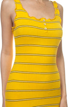 Load image into Gallery viewer, Stripe Bodycon Ribbed Dress