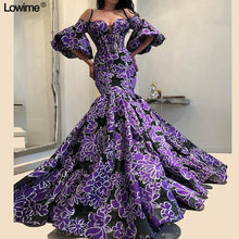 Load image into Gallery viewer, New Arrival Mermaid Celebrity Dresses 2019 Long Dubai Style vestido de festa Half Sleeves Red Carpet Dresses Runaway Gowns