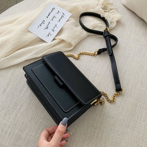 Leather Crossbody Bags For Women Green Chain Shoulder Messenger Bag High Quality Lady Travel Purses and Handbags Cross Body Bag