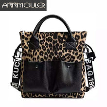 Load image into Gallery viewer, Annmouler Large Capacity Women Handbag Purse Leopard Patchwork Shoulder Bag High Quality Tote Bag Fashion Crossbody Bag
