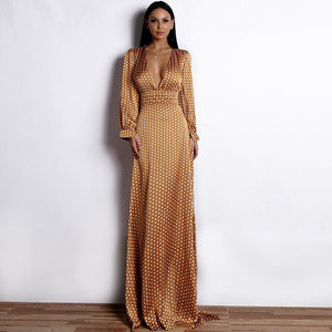 2019 New Coming Graceful Alfombra Roja Celebrity Red Carpet Dresses Sexy Deep V-neck Orange Rode Loper Robe