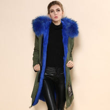 Load image into Gallery viewer, New Arrival Popular in Korea the same style Long Item Brand Mr  and Real Picture Show Green Fur Coat