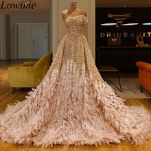 Load image into Gallery viewer, Gorgeous Glitter Arabic Celebrity Dresses Long Mermaid Kaftan Abendkleider Off Shoulder Red Carpet Gowns Turkish Evening Dress