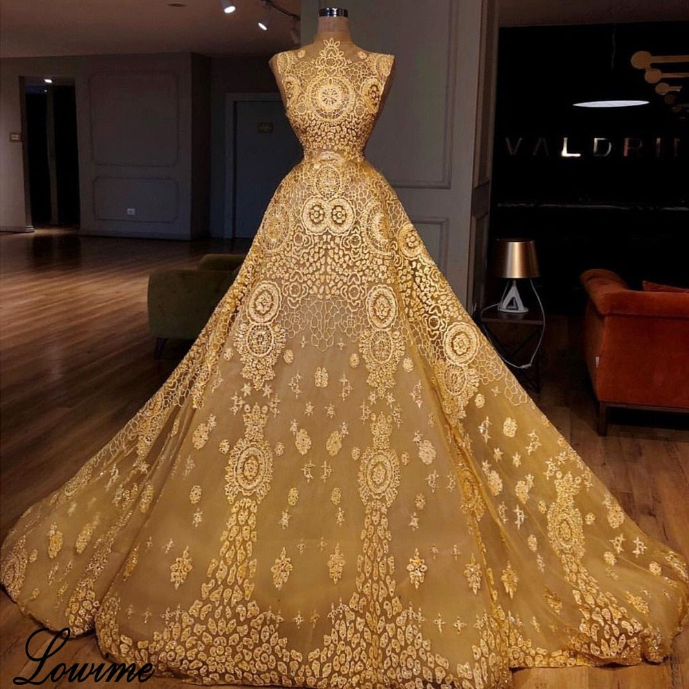 New Arrival Yellow Sequin Celebrity Dresses A-Line Sleeveless Illusion Red Carpet Dress Runaway Robe De Soiree Party Gowns