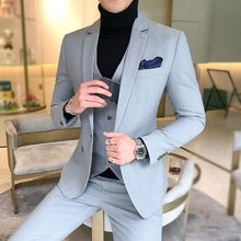 Load image into Gallery viewer, New Men's Fashion Buisness Casual Suite