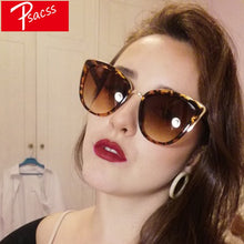 Load image into Gallery viewer, Psacss Vintage Big Cat Eye Sunglasses Women 2018 Sun Glasses Women's Fashion luxury Brand Designer High Quality Retro Sunglass