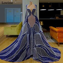Load image into Gallery viewer, Special Sparkly Muslim Celebrity Dress Mermaid Beading Formal Evening Dress Berühmtheitskleid Vestido De Festa Turkish Prom Gown