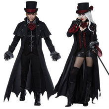 Load image into Gallery viewer, New Adult Vampire Costumes Women Mens Halloween Party Vampiro Couple Movie Cosplay Fancy Outfit Clothing Dresses