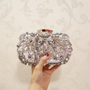 2020 high quality women beads clutch bags luxury diamond banquet bags clutch purse for ladies drop shipping MN1275