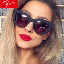 Load image into Gallery viewer, Psacss Vintage Cat Eye Sunglasses Women Black Luxury Brand Designer High Quality Retro Sun Glasses Female Fashion Mirror Shades