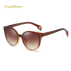 ProudDemon 2020 New Fashion Sunglasses Women Stylish Cat Eye Plastic High Quality Sun Glasses For Ladies Gafas De Sol