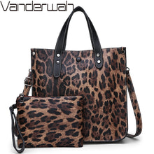Load image into Gallery viewer, Luxury Soft Leather Handbags High Quality Women Leopard Tote Bags Casual Shopping Bag Vintage Shoulder Bags Purses and Handbags