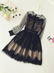 Women's Dresses 2019 Spring Summer Fashion Dressup Black Lace Short Mini Party Birthday Girl Clothes Celebrity Sexy Female