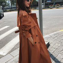 Load image into Gallery viewer, Real Photo Cloak Dust Coat Spring Women's Clothes Trench Coat Stylish Double Breasted Long Windbreakers Slim Waist Outerwear