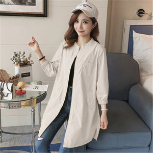 Women's Autumn Clothes Female Long Trench Coat Spring-autumn Windbreaker Ladies Outerwear Sweet Casual Coats LWL503