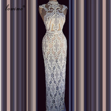 Load image into Gallery viewer, New Special Lace Celebrity Dress Mermaid 2020 Long Floor Length Red Carpet Runaway Dress Evening Prom Pageant Gowns Party Custom