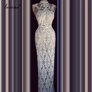 New Special Lace Celebrity Dress Mermaid 2020 Long Floor Length Red Carpet Runaway Dress Evening Prom Pageant Gowns Party Custom
