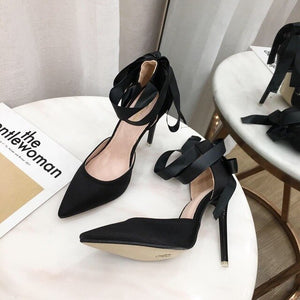 2020 Women Summer High Heel Shoes Celebrity Wearing 12cm Thin Heel Ladies Leather Shoes Business Pointed Toe Pumps Shoes Office