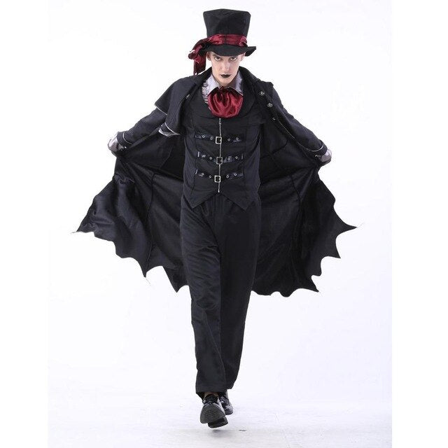 New Adult Vampire Costumes Women Mens Halloween Party Vampiro Couple Movie Cosplay Fancy Outfit Clothing Dresses