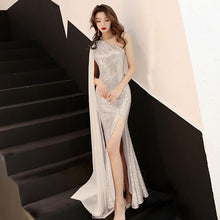 Load image into Gallery viewer, Luxury Sleeveless Evening Gown Sequins Women  Formal Celebrities Dress Bling Abendkleider Fishtail Vestido De Noche Elegante