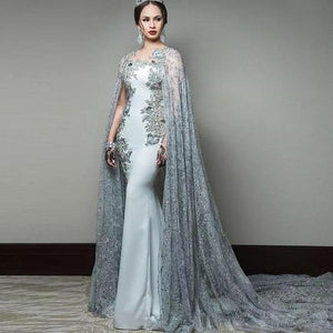 Elegant 2019 Formal Celebrity Dresses Mermaid Appliques Lace Beaded Long Evening Dresses Red Carpet Dresses