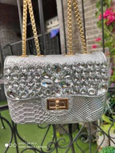 Load image into Gallery viewer, Luxury Diamond Evening Bags Fashion Crocodile Chain Shoulder Messenger Bag High Quality Women Purse and Handbags Bolso Mujer