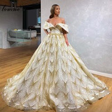 Load image into Gallery viewer, New Caftan Couture Glitter Celebrity Dresses 2020 Gorgeous Sexy Evening Dress Long Pageant Gowns Dubai Vestidos De Festa Custom
