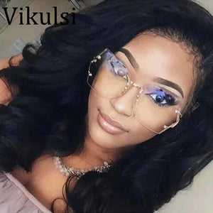 2017 Fashion Vintage Rimless Sunglasses Women High Quality Gradient Women Rimless Sun Glasses ladies pink Clear Glasses Female