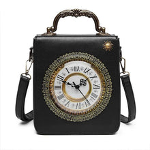 Load image into Gallery viewer, Luxury Designer Pu Leather Women Handbags Real Alarm Clock Shoulder Bag High Quality Ladies Small Purse Crossbody Bags for Women