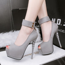 Load image into Gallery viewer, 2020 Summer and Autumn Korean Fashion Ultra High Heel Waterproof Platform Stiletto with a Sexy Fish Mouth Single Shoes