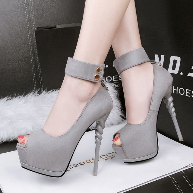 2020 Summer and Autumn Korean Fashion Ultra High Heel Waterproof Platform Stiletto with a Sexy Fish Mouth Single Shoes