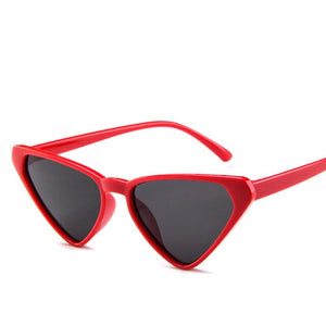European Triangle Cat Eye Sunglasses Fashion Personality Small Sun Glasses Trendy Retro High Quality Cheap Eyewear Ins Hot UV400