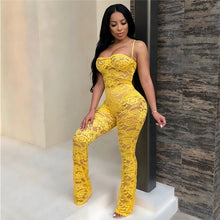 Load image into Gallery viewer, Lace Jumpsuit 2019 New Fashion Rompers Womens Jumpsuits Clubwear Playsuit Hollow Out Party Chiffon Outweaer Clothes