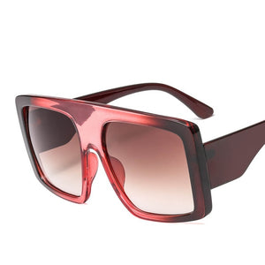 Classic Oversized Square Sunglasses for Women High Quality Vintage Fashion Glasses Male Eyewear pink Ladies Shades de sol