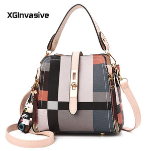 Luxury Handbags Women Bags Clutch Purse High Quality Casual Female Bag Plaid PU Leather Crossbody Messenger Bags Designer